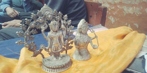 चन्दननाथ मन्दिरबाट चोरिएका दुई मूर्ति भेटियो, तीन जना पक्राउ