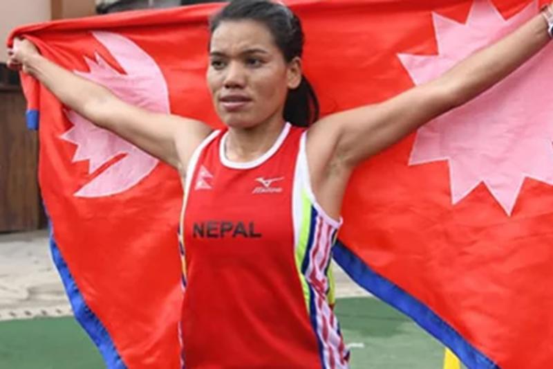 सल्यानकी पुष्पाले जितिन् बंगलादेशमा स्वर्ण पदक