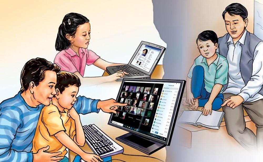 ग्रामीण भेगमा नामको मात्रै अनलाईन कक्षा