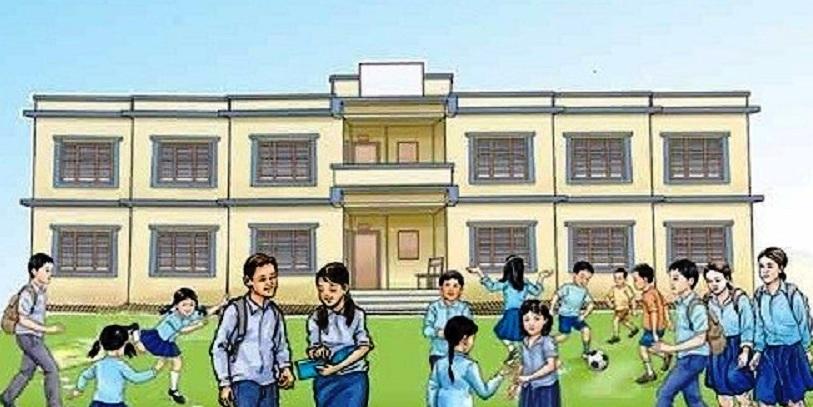 रुकुम पश्चिमका सामुदायिक विद्यालयमा पठनपाठनको तयारी