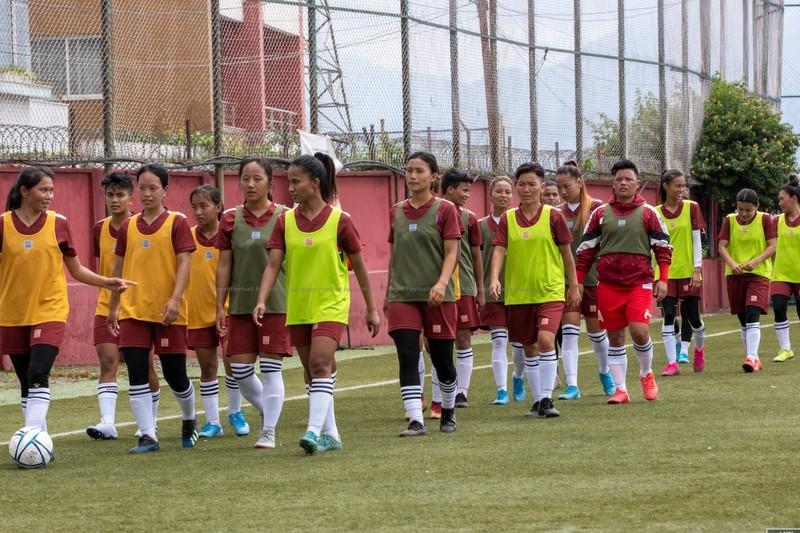 बंगलादेशसँग भदौ २४ र २७ मा फुटबल खेल्दै नेपाली महिला टोली