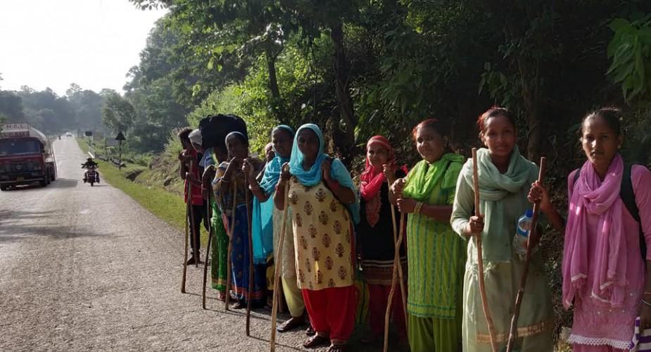 न्याय खोज्न नेपालगन्जदेखि सिंहदरबारसम्म पैदल