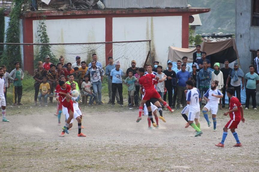 नलगाडमा जारी त्रिवेणी गोल्डकपको दोस्रो दिन चार खेल